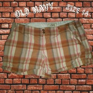 Old Navy Perfect Plaid Shorts